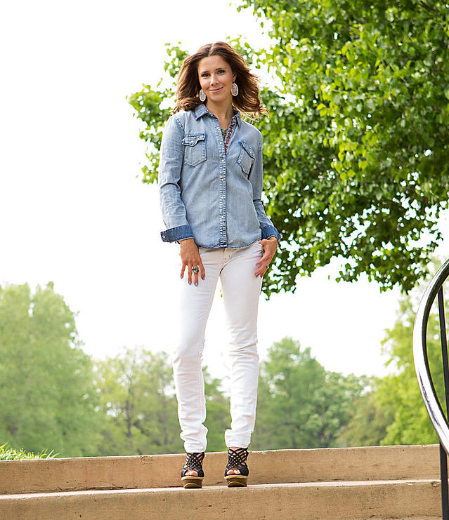 Chambray on White Denim